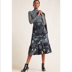 🔴 NWT Anthropologie Tracy Reese Edita Midi Skirt
